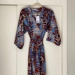 NWT Mango Vestido Shibuya Kimono Dress